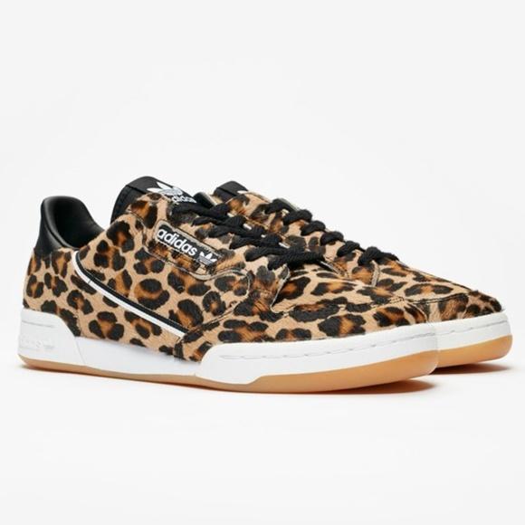Adidas Originals Continental 80 Leopard Black Whit NWT